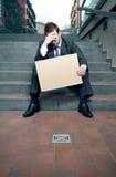 Deprimierter Geschäftsmann Stockbilder