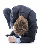 Deprimierter Geschäftsmann Lizenzfreies Stockfoto