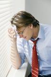 Deprimierter Geschäftsmann Lizenzfreie Stockfotos