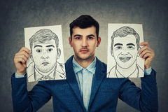 Deprimierter Geschäftsmann Lizenzfreies Stockbild