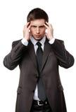 Deprimierter Geschäftsmann hat einige Probleme Lizenzfreies Stockbild