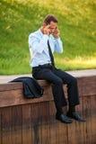 Deprimierter Geschäftsmann Stockfotografie