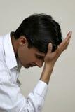 Deprimierter Inder Stockfoto