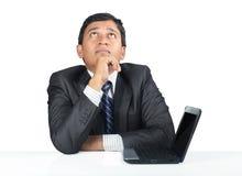 Deprimierter indischer junger Geschäftsmann Lizenzfreie Stockfotos