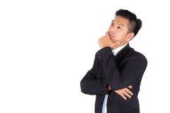 Deprimierter indischer junger Geschäftsmann Stockbild