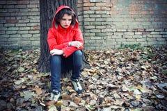 Deprimierter Jugendlicher Stockfotografie