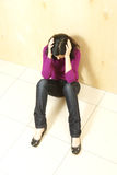 Deprimierter Jugendlicher Stockbild
