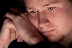 Deprimierter junger Geschäftsmann Stockbilder
