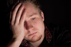 Deprimierter junger Geschäftsmann Lizenzfreies Stockbild