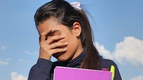 Deprimierter junger Kursteilnehmer Lizenzfreie Stockfotos