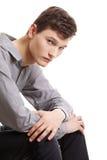 Deprimierter junger Mann. Stockfotografie