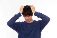Deprimierter junger Mann Stockbilder