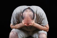Deprimierter Mann Stockfotografie