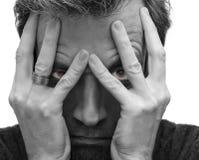 Deprimierter Mann Stockfoto