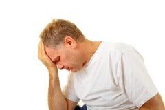 Deprimierter Mann Lizenzfreies Stockbild