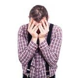 Deprimierter Mann Lizenzfreie Stockfotografie