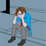 Deprimierter Mann Lizenzfreie Stockbilder