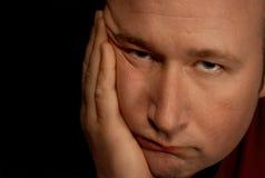 Deprimierter Mann Stockbild