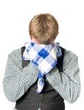 Deprimierter oder kranker Mann mit Taschentuch Stockfoto