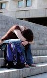 Deprimierter oder müder Kursteilnehmer Stockbild