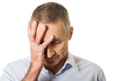 Deprimierter reifer Mann Stockbild