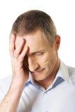 Deprimierter reifer Mann Lizenzfreie Stockfotos