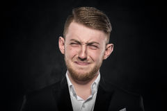 Deprimierter stattlicher junger Mann Lizenzfreie Stockbilder