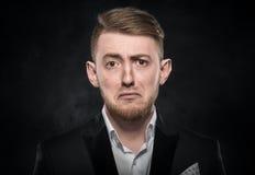Deprimierter stattlicher junger Mann Lizenzfreies Stockbild