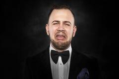 Deprimierter stattlicher junger Mann Stockbilder