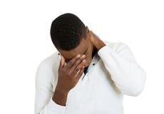 Deprimierter trauriger junger Mann Stockbilder