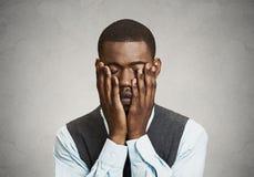 Deprimierter trauriger Mann Lizenzfreie Stockfotos