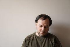 Deprimierter Vierziger Lizenzfreies Stockfoto