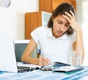 Deprimierter weiblicher Student Lizenzfreie Stockfotografie