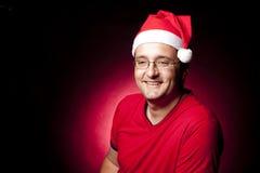 Deprimierter Weihnachtsmann Lizenzfreie Stockfotos