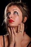 Deprimiertes Frauenportrait Stockbild