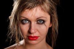 Deprimiertes Frauenportrait Stockbilder