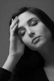 Deprimiertes Frauenportrait Lizenzfreies Stockfoto