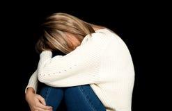 Deprimiertes Frauenportrait Lizenzfreie Stockbilder