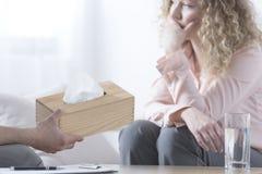 Deprimiertes Frauenschreien Lizenzfreie Stockfotos
