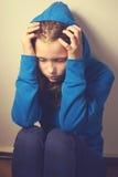 Deprimiertes jugendlich Mädchen Stockbilder