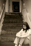 Deprimiertes jugendlich Mädchen Stockfotografie