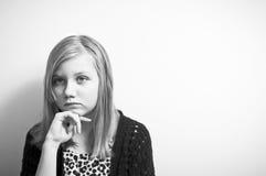 Deprimiertes Jugendlichdenken Lizenzfreie Stockfotos