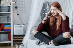Deprimiertes junges Mädchen Stockfotos