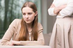Deprimiertes junges Mädchen Lizenzfreies Stockfoto