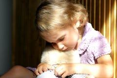 Deprimiertes kleines Mädchen Stockfoto