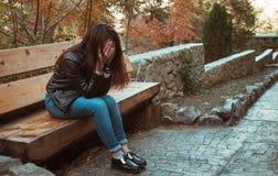 Deprimiertes Mädchen Stockfotografie