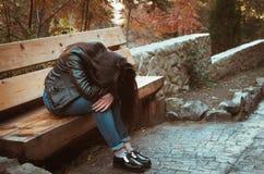 Deprimiertes Mädchen Stockbilder