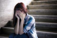 Deprimiertes Mädchen Lizenzfreies Stockbild