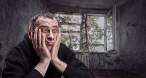 Deprimiertes Manndenken Stockfotos