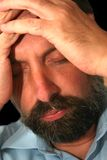 Deprimiertes men-2 Stockfotografie